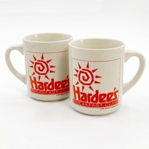 Coffee Mug Hardee's Vintage Lot 2 Breakfast Club